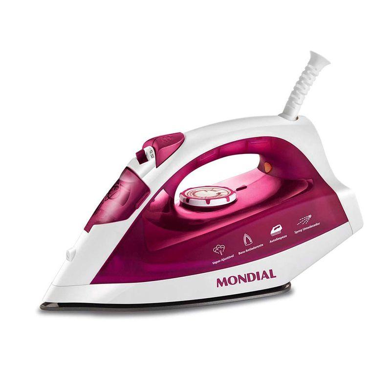 Ferro-de-Passar-a-Vapor-Pink-NF-33-Mondial
