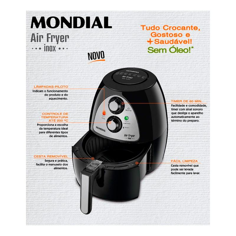 Fritadeira-Air-Fryer-Preta-NAF-03I-Mondial