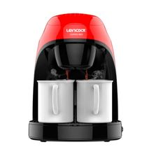 Cafeteira Elétrica Red Coffee com 2 Xícaras Exclusivas 450W Lenoxx