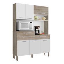 Cozinha Compacta Orion 6 Portas 3 Gavetas MDP Acabamento Fosco Kits Paraná