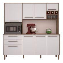 Cozinha Compacta Ágata 8 Portas 2 Gavetas MDP Acabamento Fosco Kits Paraná
