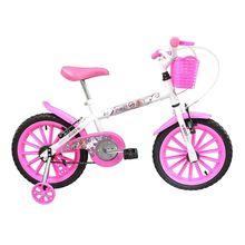 Bicicleta Aro 16 Pinky com Cestinha e Freio V-Brake Track Bike