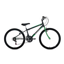 Bicicleta Aro 24 Teen Boy com Grip Shift e Freio V-Brake 18M Stone Bike