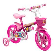 Bicicleta Aro 12 Nathor Flower com Squeeze e Rodinhas Stone Bike