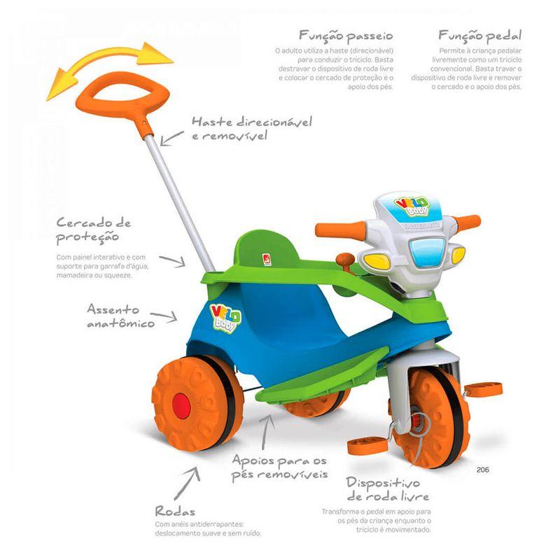Triciclo-Velobaby-Bandeirante