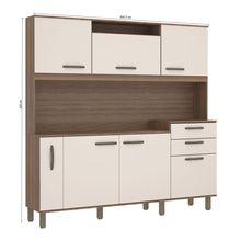 Cozinha Compacta Lilian 06 Portas 02 Gavetas e Porta Condimentos Luciane