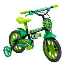 Bicicleta Aro 12 Nathor Black com Squeeze e Rodinhas Stone Bike