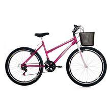 Bicicleta Aro 26 Smart GT com Cestinha e Freio V-Brake 21M Stone Bike