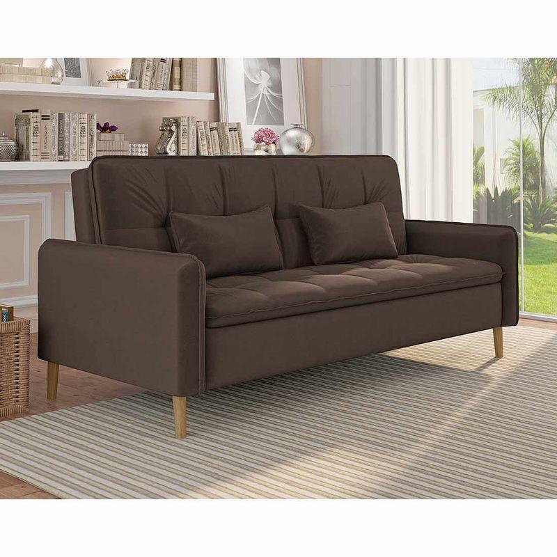 Sofa-cama-Donna-3-Lugares-Veludo-Reclinavel-Bicama-Matrix
