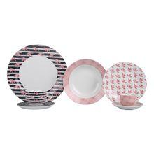 Aparelho de Jantar Flox em Porcelana 20 Peças Casambiente