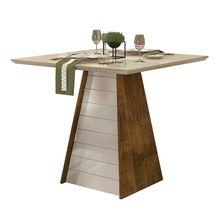 Mesa de Jantar Fler Quadrada em MDF e MDP com Vidro 4L Dj Móveis