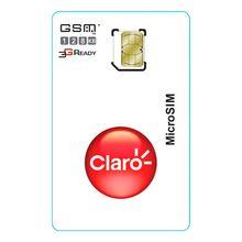 Chip Micro Pre Pago GSM 4g 128k Claro