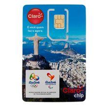 Chip Triplo Pre Pago GSM 4G 128k Claro