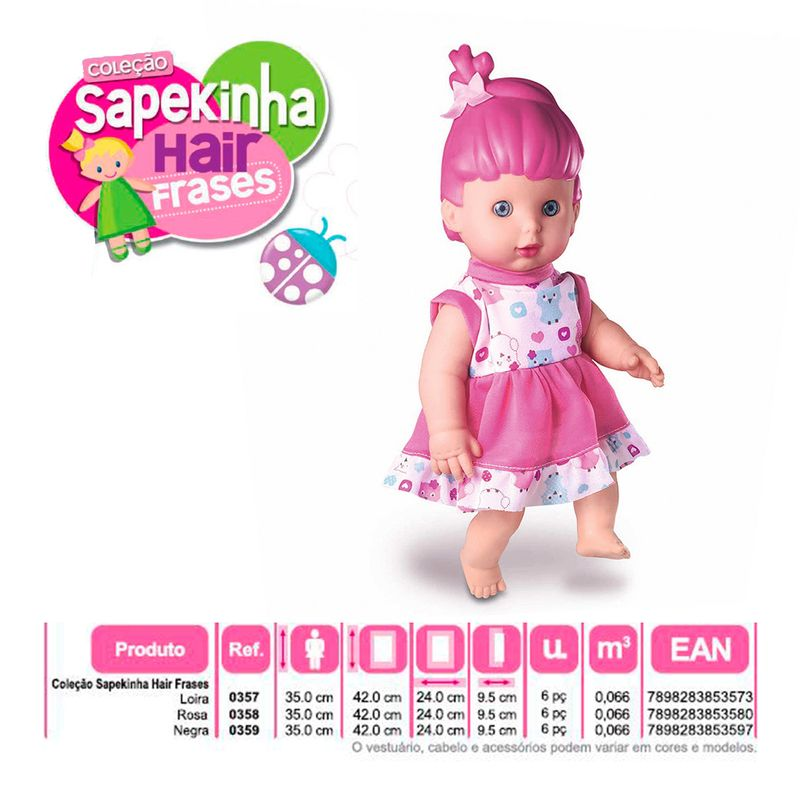 Boneca-Sapekinha-Hair-Frases-Colecao-Milk-Brinq