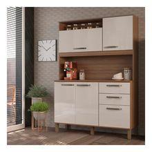 Cozinha Compacta Kelly 5 Portas e 2 Gavetas Luciane Cozinha