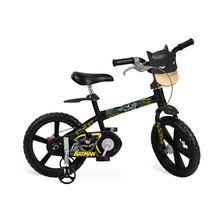 Bicicleta Batman Aro 14 com Para-lama e Rodinhas Bandeirante