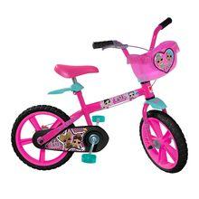 Bicicleta Lol Aro 14 com Para-lama e Rodinhas Bandeirante