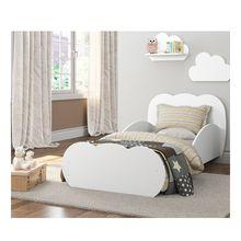 Cama Nuvem Infantil MDF com Barra de Proteção Multimóveis