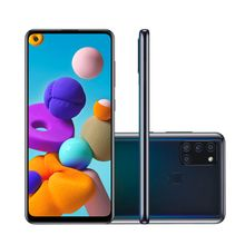 """Smartphone GLX A21s 64GB Câmera Quadrupla Tela Infinita 6,5"""" 4GB Ram Samsung"""