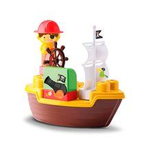 Navio de Brinquedo Tchuco Blocks Pirata 49 Peças Samba Toys