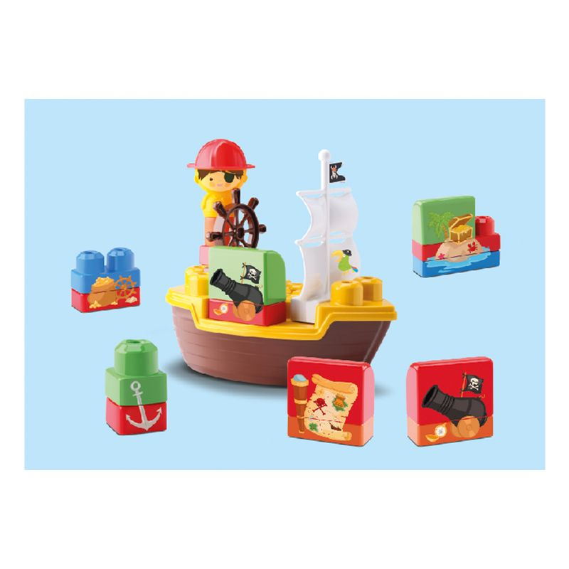 Navio-de-Brinquedo-Tchuco-Blocks-Samba-Toys