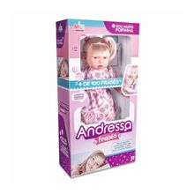 Boneca Andressa Loira Frases Milk Brinquedos