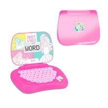 Laptop Infantil Barbie Pedagógico Bilingue Candide