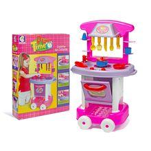 Cozinha de Brinquedo Play Time com Rodas e Acessórios Cotiplás