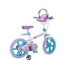 Bicicleta Aro 14 Frozen 2 com Cadeirinha e Rodinhas Bandeirante