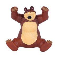 Urso de Brinquedo Masha em Vinil Atóxico 18cm 2 em 1 Cotiplás