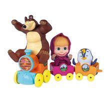 Trenzinho de Brinquedo Masha e seus Amigos com Roda Livre Cotiplás