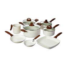 Conjunto de Panelas Ceramic Life Smart Plus em Alumínio 8 Peças Brinox