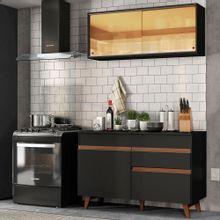 Cozinha Compacta Madesa Reims 120001 com Armário e Balcão Preto
