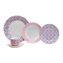 Aparelho de Jantar Apja001 20 Peças em Porcelana Casambiente