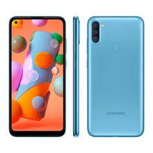"Smartphone A11 Galaxy 64GB Câmera Tripla Tela Infinita 6,4"" 3GB Ram Samsung"