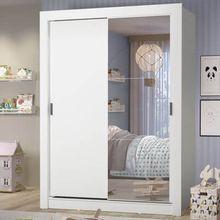 Guarda-Roupa Infantil Madesa Theo 2 Portas de Correr com Espelho 4 Gavetas Branco