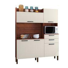 Cozinha Compacta Ravena em MDP 5 Portas 2 Gavetas Semi Brilho Kits Paraná