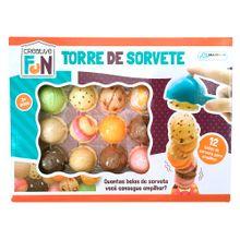 Creative Fun Torre de Sorvete Indicado para +3 Anos Colorido Multikids - BR645