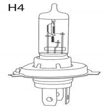 Lâmpada Automotiva H4 12V 55 + 60W Comum UnitáriaMultilaser - AU805