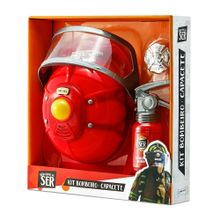Brincando de Ser Kit Bombeiro Capacete Indicado para +3 Anos Vermelho Multikids - BR964