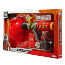 Brincando de Ser Kit Bombeiro Com Máscara de Oxigênio Indicado para +3 Anos Vermelho Multikids - BR962