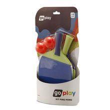 Go Play Kit Ping Pong com 2 Raquetes e Bolinha Indicado para +3 Anos Multikids - BR950