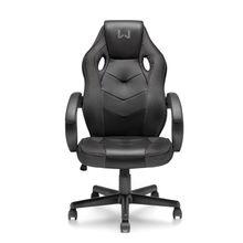 Cadeira Gamer com Função Basculante 15° Suporta até 120Kg Preta Warrior - GA182