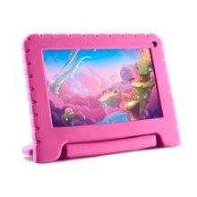 Tablet Kid Pad Lite Multilaser 7 Pol. 16GB Quad Core Android 8.1 Rosa - NB303