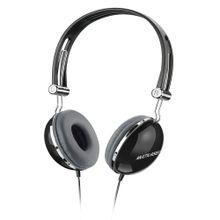 Fone De Ouvido Multilaser Headphone Vibe Design Retro P2 Preto - PH053