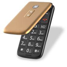 Celular Flip Vita Multilaser Dual Chip Mp3 Dourado - P9043