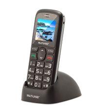 Celular Vita 3G Dual Chip USB Bluetooth Tela 1,8 Pol. + Base Carregadora Preto Multilaser - P9091
