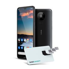 Smartphone Nokia 5.3 128GB Dual SIM, 4GB RAM, Tela 6,55 Pol. Câm Quádrupla com IA + Lentes Ultra-Wide + Cartão SIM HMD Connect - PretoNK008