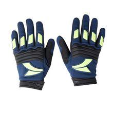 Luva para Motociclista Dedo Longo Tam. P Material Emborrachado e Couro Azul/ Preto Atrio - MT036