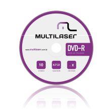 Dvd-R Multilaser Com 10 Mídias 4.7Gb 8X - DV038